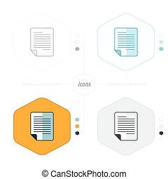 document icon paper 4 design