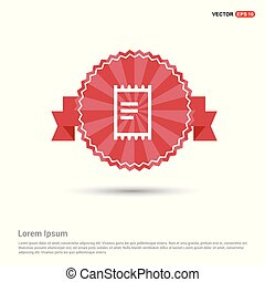 Document Icon - Red Ribbon banner