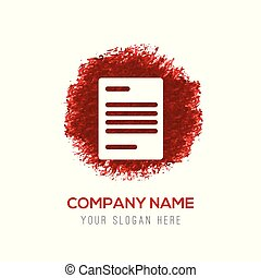 Document Icon - Red Water Color Circle Splash