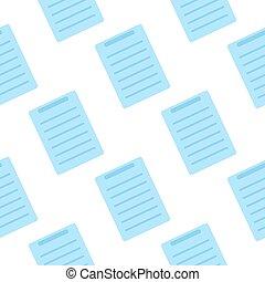 Document Icon seamless pattern. Flat design symbol