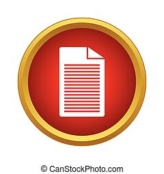 Document Icon, simple style - Document Icon in simple style ...