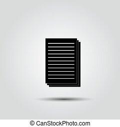 Document Icon, Vector
