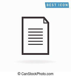 document Icon. Vector icon eps10.