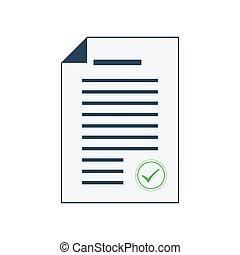 Document icon. Vector illustration