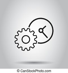 Document icon. Vector illustration on isolated background. Business concept project management pictogram.