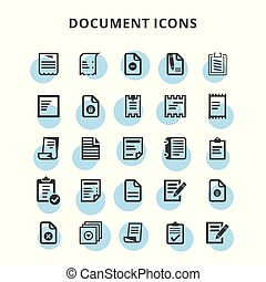 document, iconen