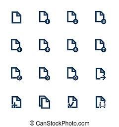 document, iconen