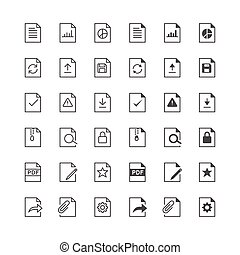 Document icons, included normal and enable state.