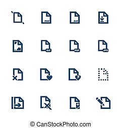 Document icons - Set of icons for different document formats...
