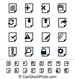 Document icons - Simple vector icons. Clear and sharp. Easy ...