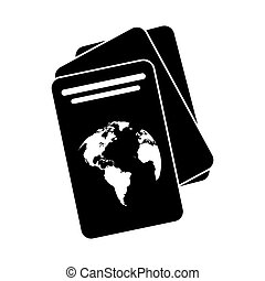 document, identification, passeport, pictogramme
