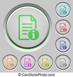 Document info push buttons