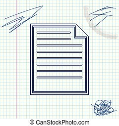 Document line sketch icon isolated on white background. File icon. Checklist icon. Business concept. Vector Illustration