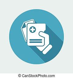 document médical, icône