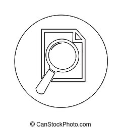 Document Magnifying Glass Icon illustration design