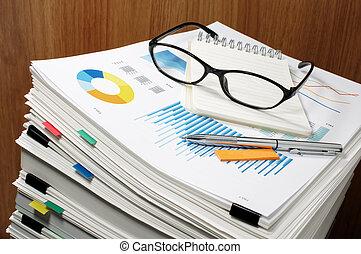 document, management., paperwork., business, concept.