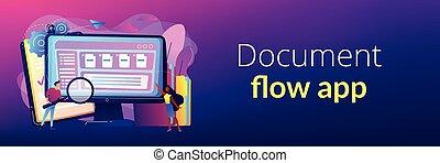 Document management soft concept banner header.