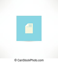 document on a blue background
