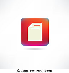 Document on a red background