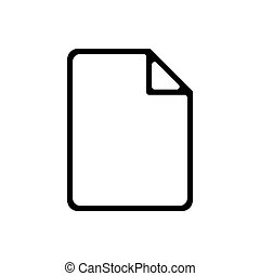 Document outline icon isolated. Symbol, logo illustration for mobile concept and web design.