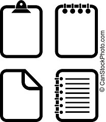 Document outline vector icon - Documents outline vector...