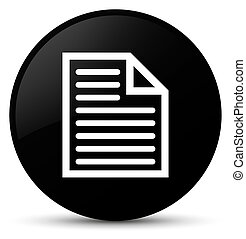 Document page icon black round button