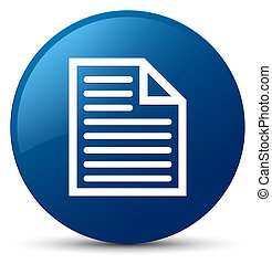 Document page icon blue round button