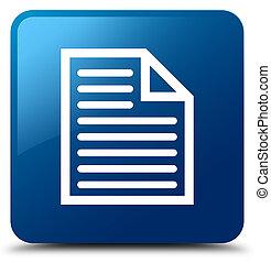 Document page icon blue square button