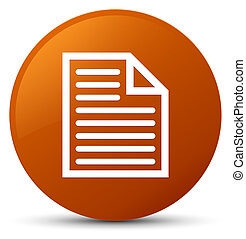 Document page icon brown round button