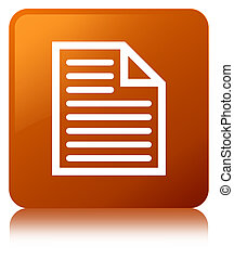 Document page icon brown square button