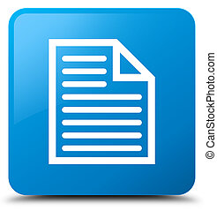 Document page icon cyan blue square button