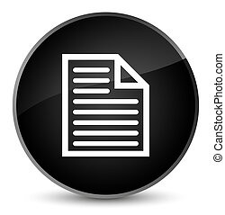 Document page icon elegant black round button