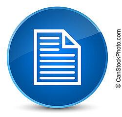 Document page icon elegant blue round button