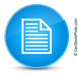 Document page icon elegant cyan blue round button