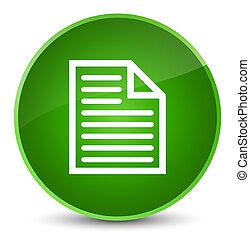 Document page icon elegant green round button