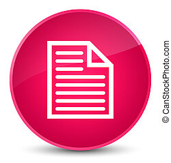 Document page icon elegant pink round button