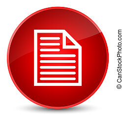 Document page icon elegant red round button
