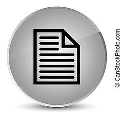 Document page icon elegant white round button
