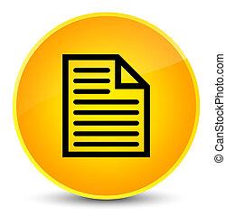 Document page icon elegant yellow round button