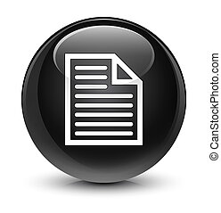 Document page icon glassy black round button