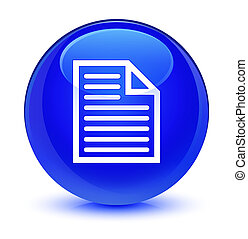 Document page icon glassy blue round button
