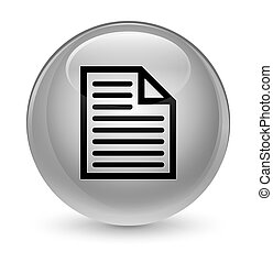 Document page icon glassy white round button