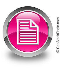 Document page icon glossy pink round button