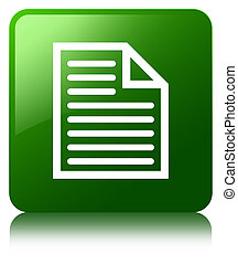 Document page icon green square button
