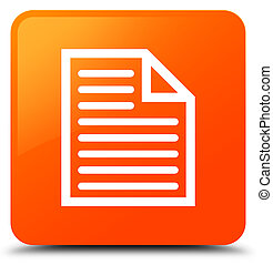 Document page icon orange square button