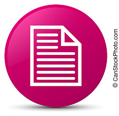 Document page icon pink round button