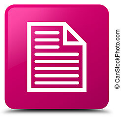 Document page icon pink square button
