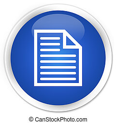 Document page icon premium blue round button