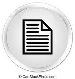 Document page icon premium white round button