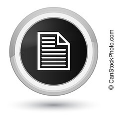Document page icon prime black round button